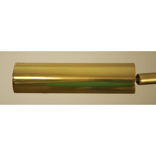 Brass Koch & Lowy OMI Vintage Brass Pair Swing Arm Floor Lamps For Sale - Image 8 of 12