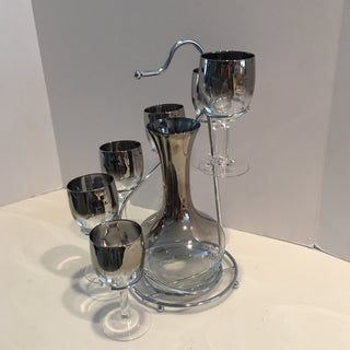 Vintage Mid Century Wine Decanter & Glasses- 7 Pieces Preview