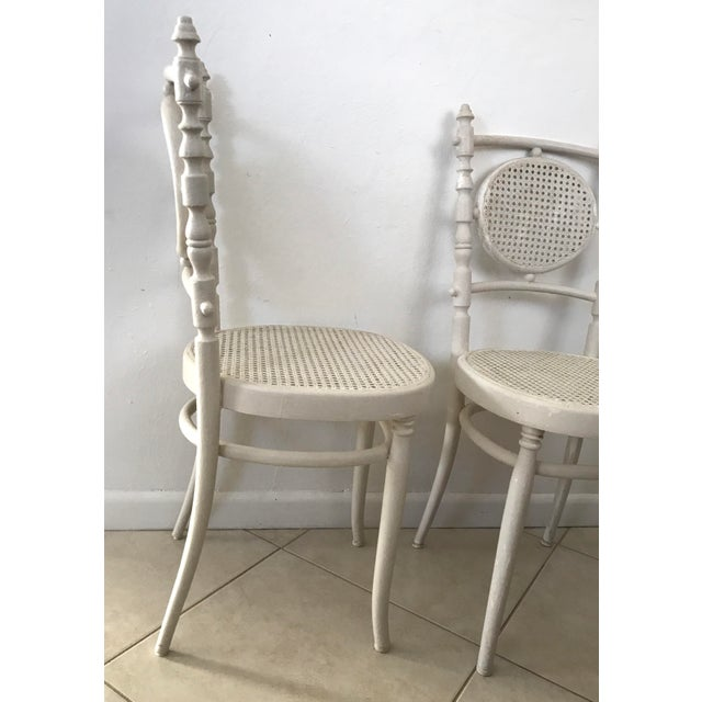 Antique 1913 Fischel Bentwood French Bistro Chairs - a Pair For Sale - Image 9 of 11