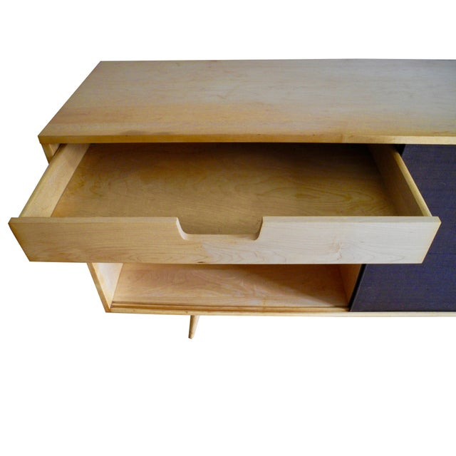20th Century Modern Maple Storage Credenza / Sideboard With Shelf and Drawers by Paul McCobb For Sale - Image 12 of 13
