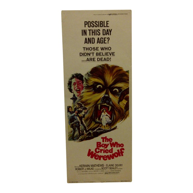 """""""The Boy Who Cried Werewolf"""" Vintage Movie Poster For Sale"""