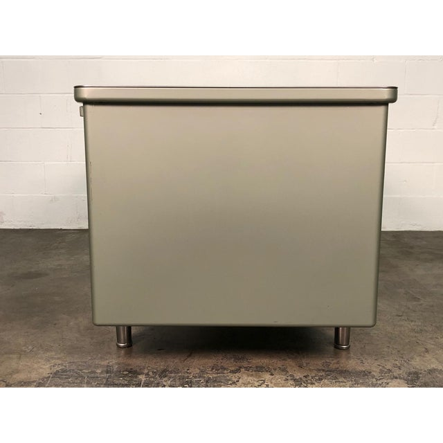 Steelcase Mid-Century Industrial Steel Tanker Desk For Sale In Saint Louis - Image 6 of 13