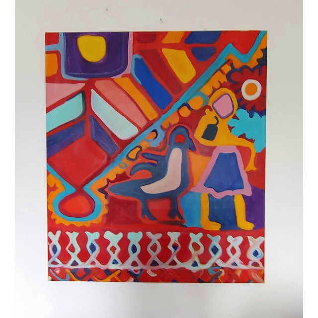 Paint 1990s Richard Youniss Original Inuit Inspired Oil Painting For Sale - Image 7 of 7