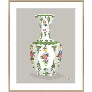 """Millefleur in Green - Vase Series"" By Dana Gibson, Framed Art Print For Sale"