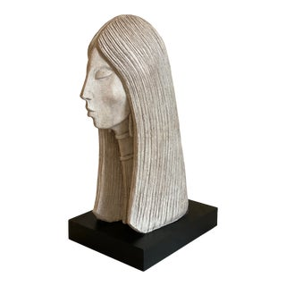 Large Contemporary Bust of Woman by David Fisher for Austin Productions For Sale