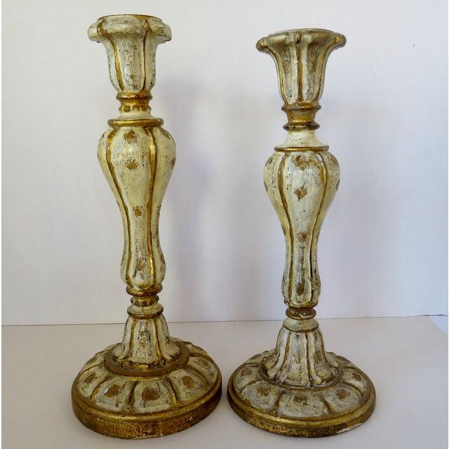 Italian Florentine Candlesticks, Set of 2 For Sale - Image 3 of 6