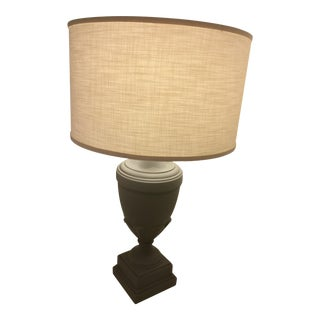 Ethan Allen Bisque Gray Livadia Table Lamp