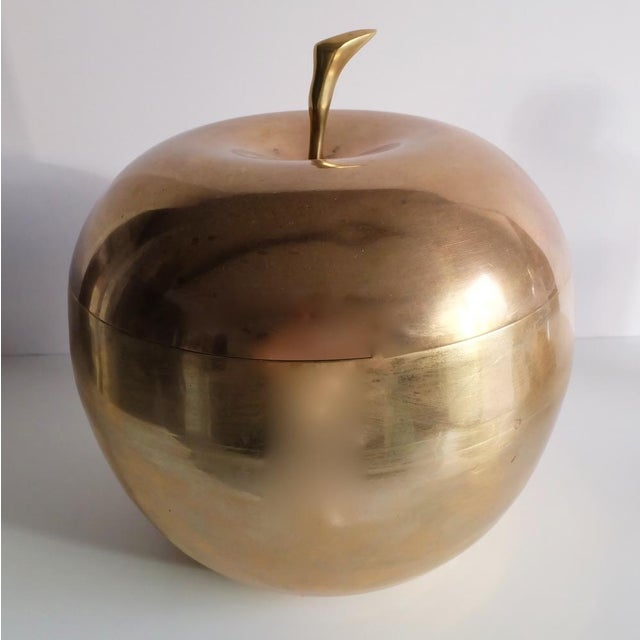 Mid-Century Brass Apple Catch All Box - Image 2 of 3