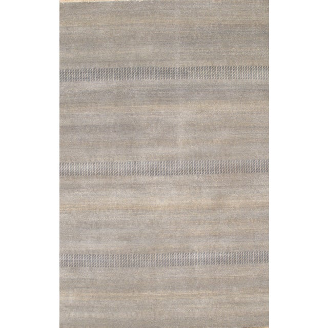 Hand Knotted Modern Wool Rug - 8' X 10' - Image 1 of 2