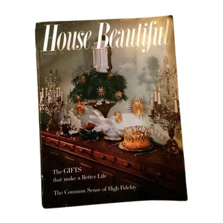 """House Beautiful"" Mid-Century Modern Christmas Magazine Issue"