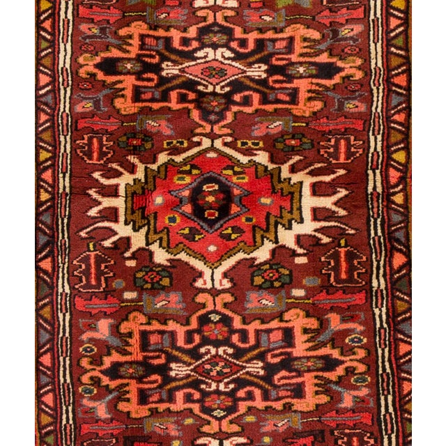 "Apadana - Vintage Persian Heriz Rug, 2'5"" x 6' For Sale - Image 4 of 5"