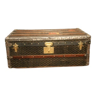 1930s Goyard Cabin Steamer Trunk For Sale