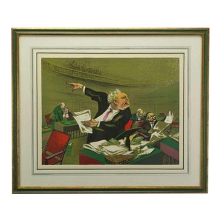 William Gropper Social Realist Lithograph For Sale