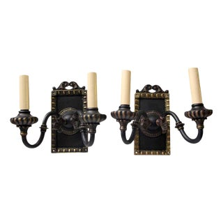 1920s Vintage Tudor Sconces - a Pair For Sale