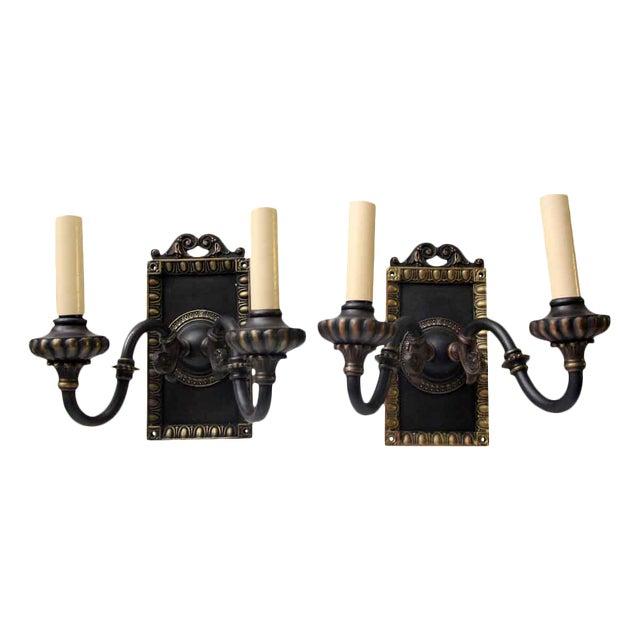 1920s Vintage Tudor Sconces - a Pair For Sale