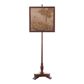 19th Century English Adjustable Firescreen For Sale