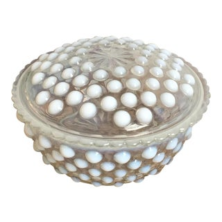 Anchor Hocking Opalescence Hobnail Glass Box