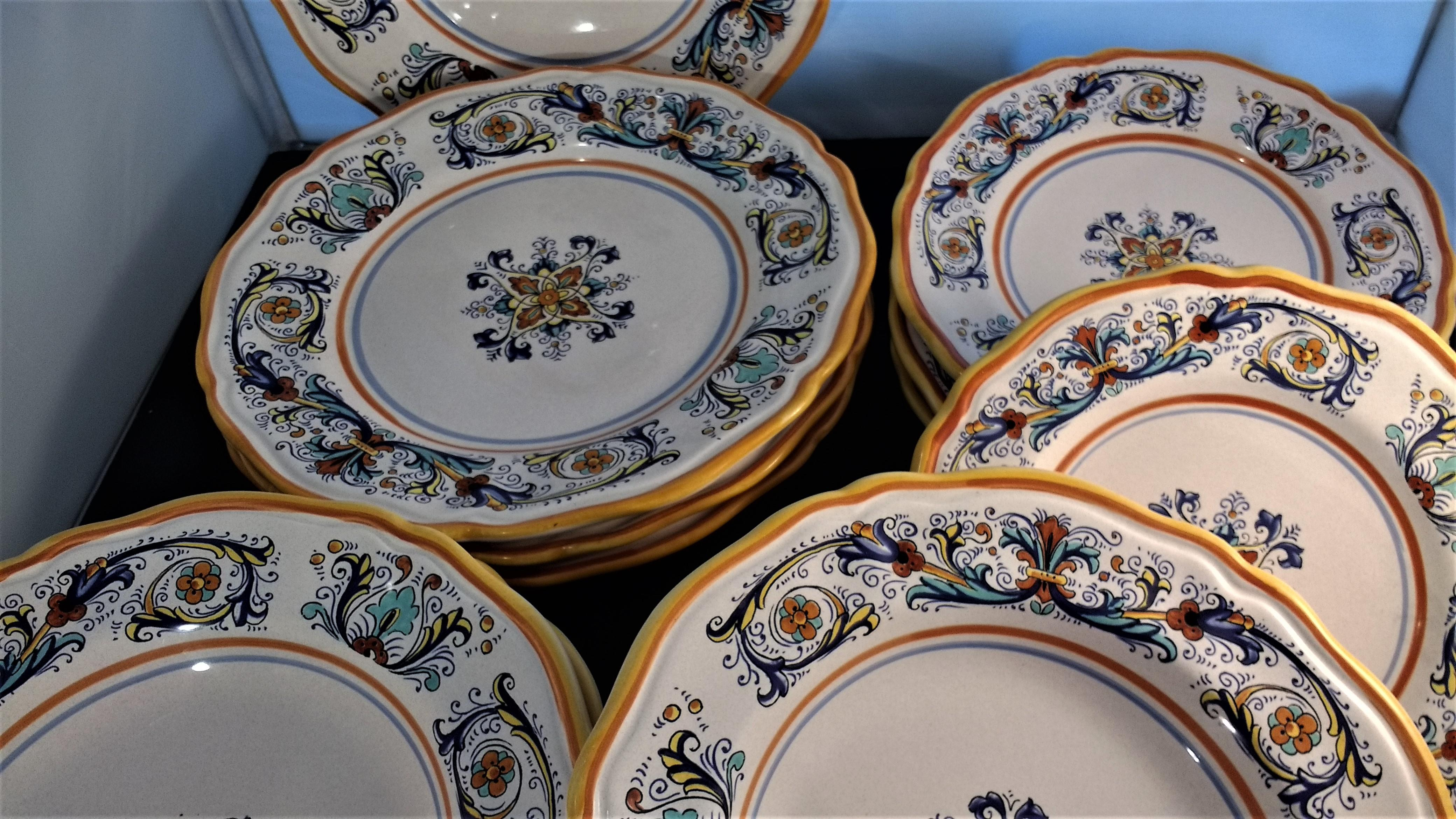 Retired Pattern Nova Deruta Dishes - Set of 12 - Image 3 of 5  sc 1 st  Chairish & Retired Pattern Nova Deruta Dishes - Set of 12 | Chairish