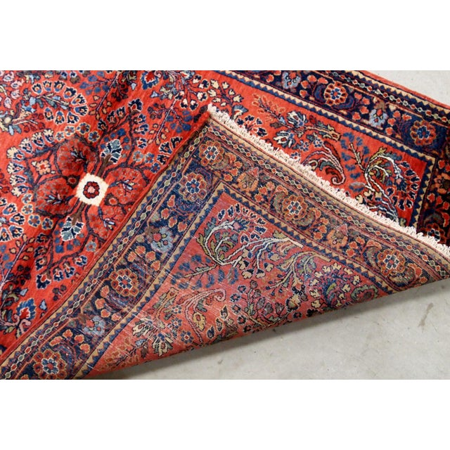 1920s 1920s, Handmade Antique Persian Sarouk Rug 3.2' X 5.2' For Sale - Image 5 of 10
