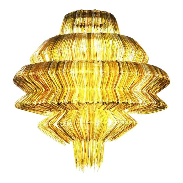 Brilli D Chandelier in Gold Resin by Jacopo Foggini For Sale