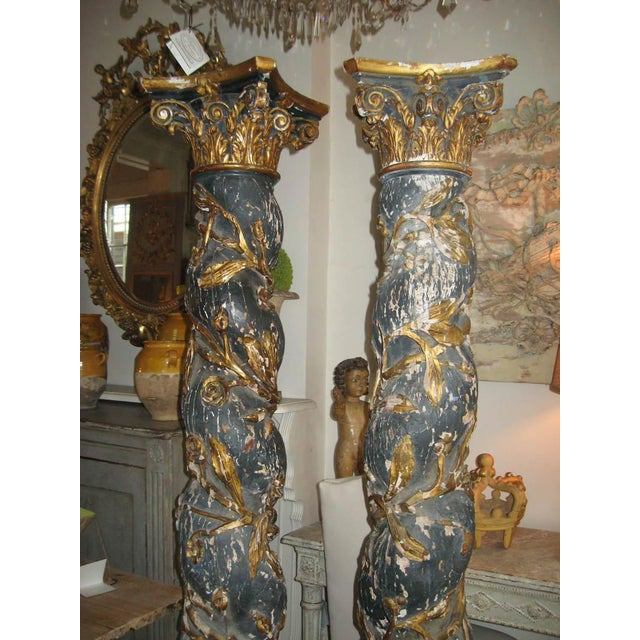 Pair of 17th Century Columns For Sale - Image 10 of 12