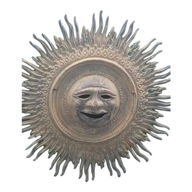 Bronze Sunburst Wall Sculpture For Sale