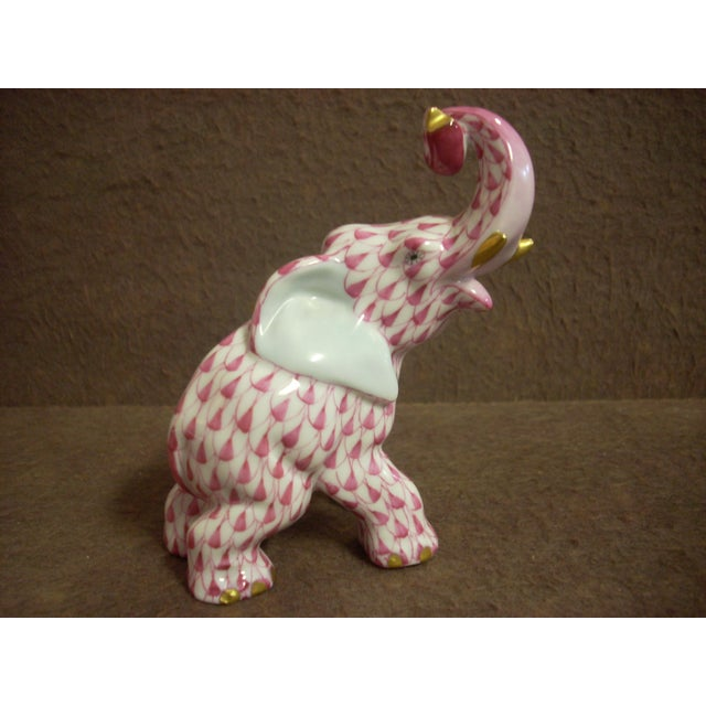 1970s Herend Elephant Figurine For Sale - Image 5 of 5