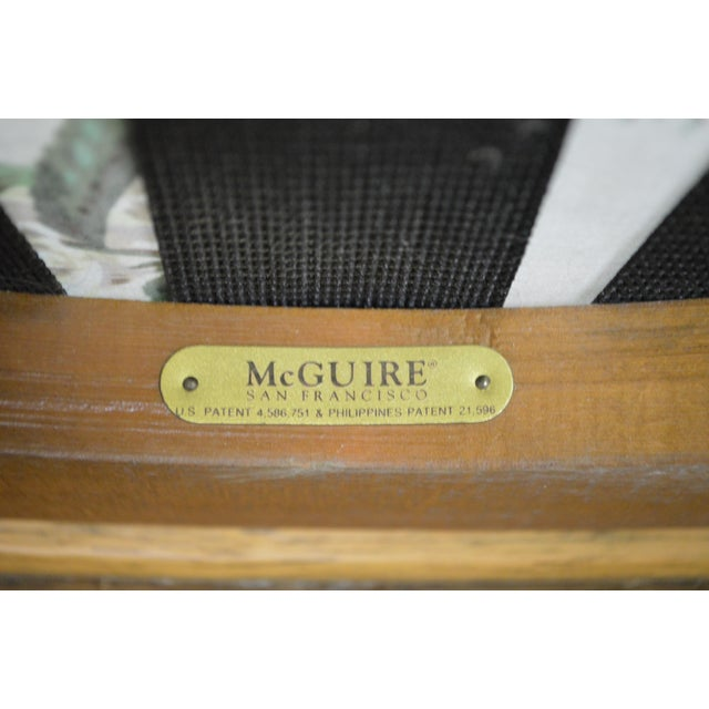 McGuire of San Francisco Twisted Rattan Lounge Chair For Sale - Image 5 of 13