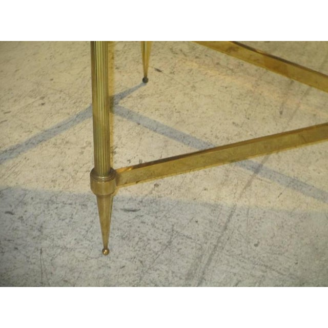 Bagues Brass Coffee Table With Marble Top For Sale - Image 4 of 7