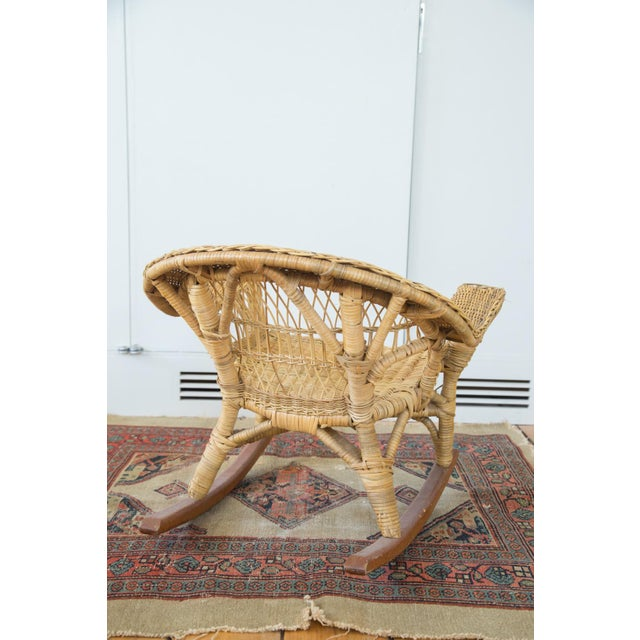 Vintage Boho Wicker Child's Chair - Image 6 of 6