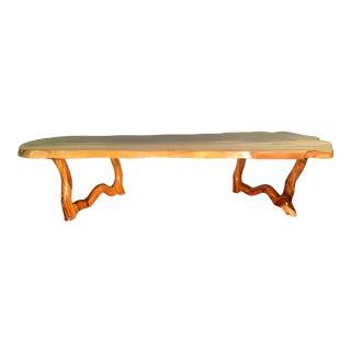 Organic Modern Koa Sculpted Live Edge Coffee Table For Sale