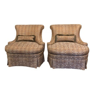 Hollywood Regency Hickory Boudoir Chairs - a Pair For Sale