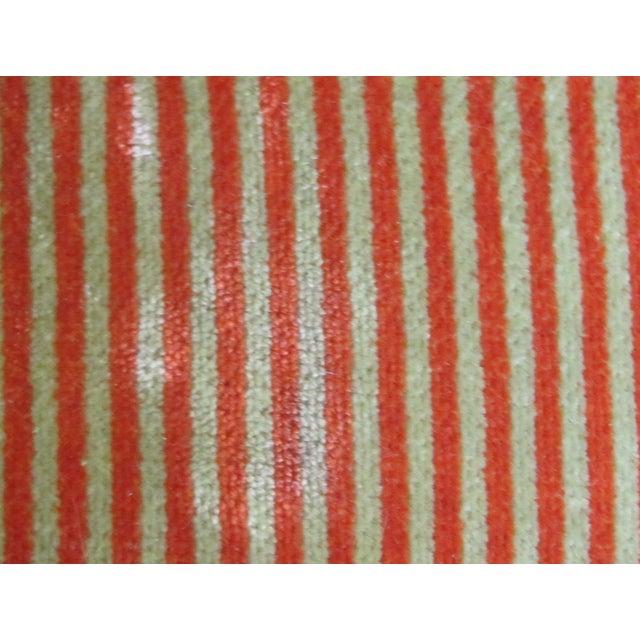 A. Rudin Velvet Stripe Lounge Chair - Image 7 of 9