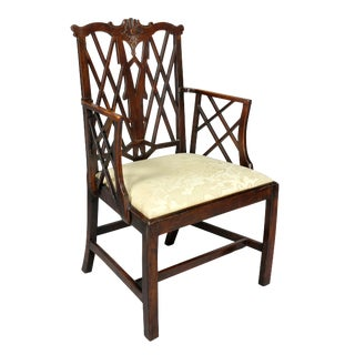 George III Yewwood Cockpen Armchair For Sale