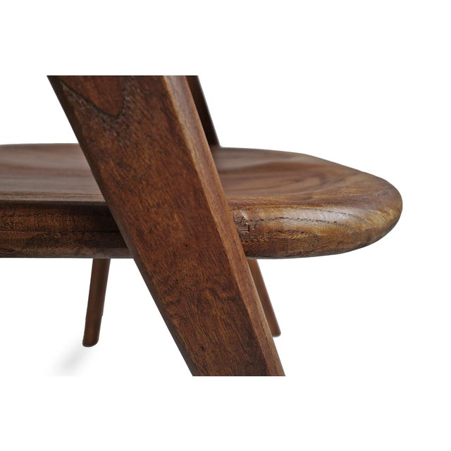 Elm Wood Deco Dining Chair For Sale - Image 9 of 10