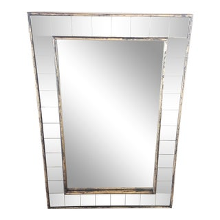 Contemporary Art Deco Style Framed Wall Mirror For Sale