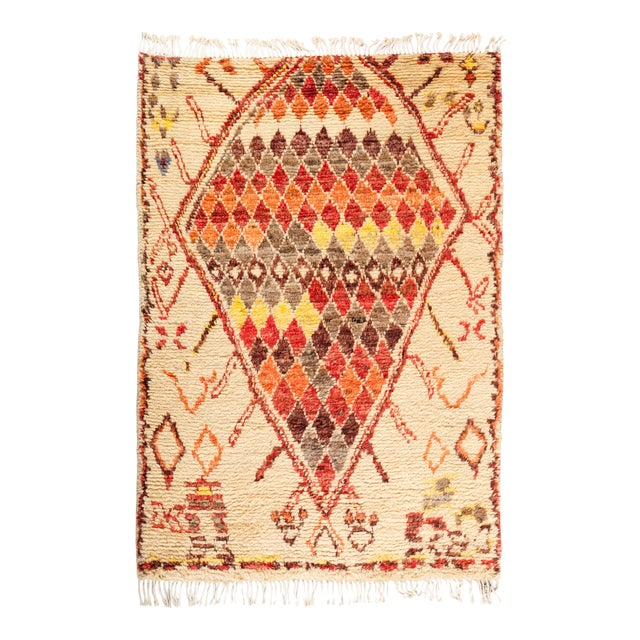 "Tullu Hand Knotted Area Rug - 4' 3"" x 6' 0"" - Image 1 of 4"