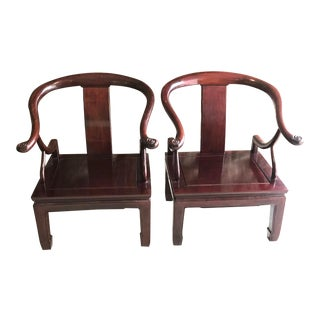 Asian Emperor Chairs - A Pair For Sale
