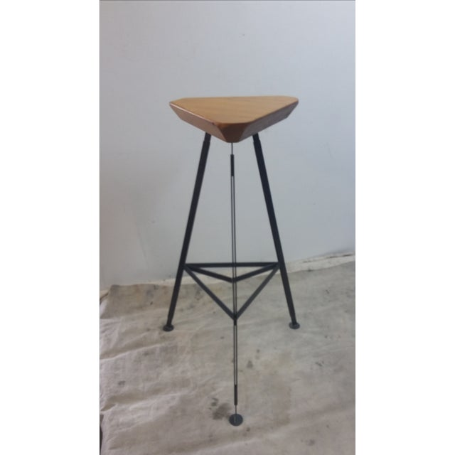 This is a new bar stool, hand made by Oblik studio in Brooklyn NY . Inspired by vintage aeronautical and automotive...