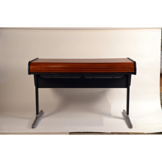 Impeccable 'Action Office 1' roll top desk by George Nelson for Herman Miller. This roll top desk was designed as part of...