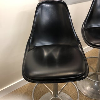 Midcentury Aluminum Leather W Molded Plastic Backs Preview