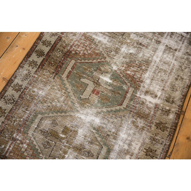 """Green Vintage Distressed Caucasian Rug Runner - 2'9"""" X 11'1"""" For Sale - Image 8 of 13"""