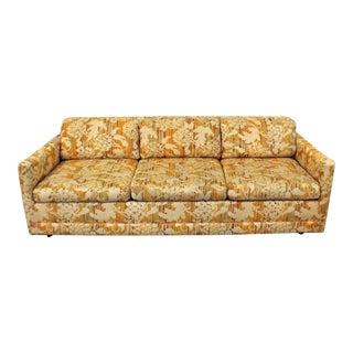 Mid-Century Danish Modern Vintage Milo Baughman Forecast Sofa For Sale