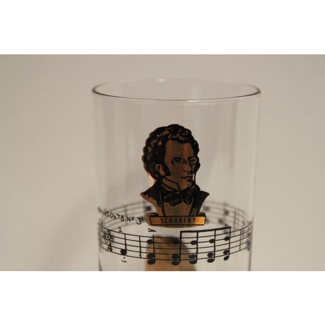 Classical Composers Glasses - Set of 8 For Sale - Image 4 of 5