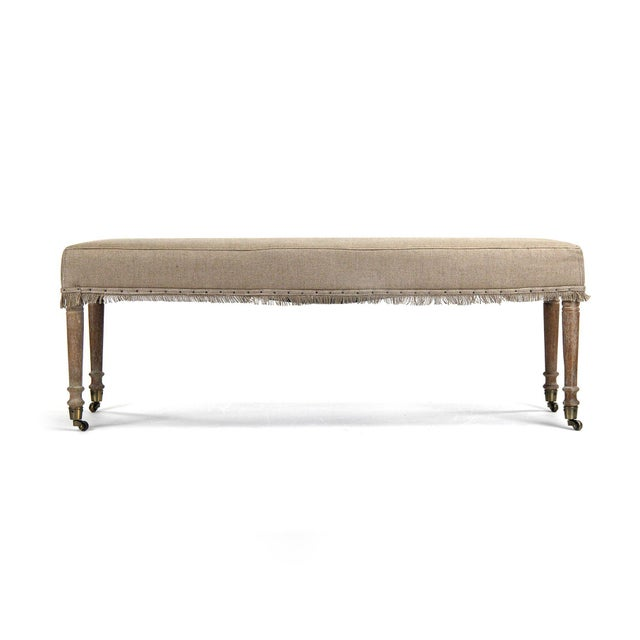 2020s Mackenzie Bench in Tan For Sale - Image 5 of 5