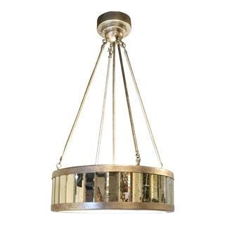 Modern Antiqued Mirror Pendant Light For Sale