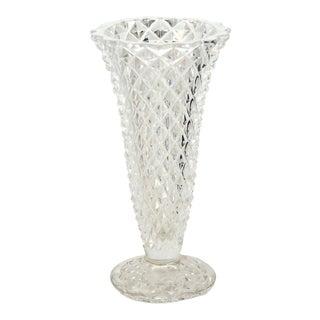 German Lead Crystal Vase For Sale