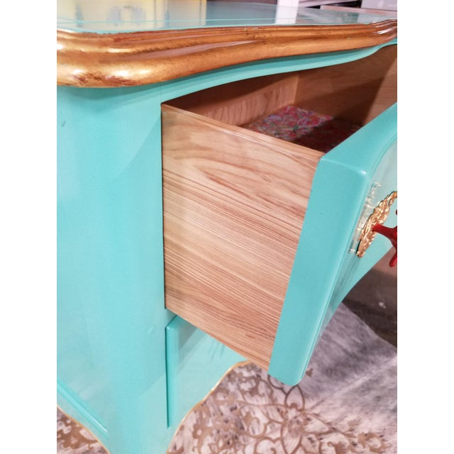 Wood Italian Solid Cherry Chest of Drawers / Console For Sale - Image 7 of 10