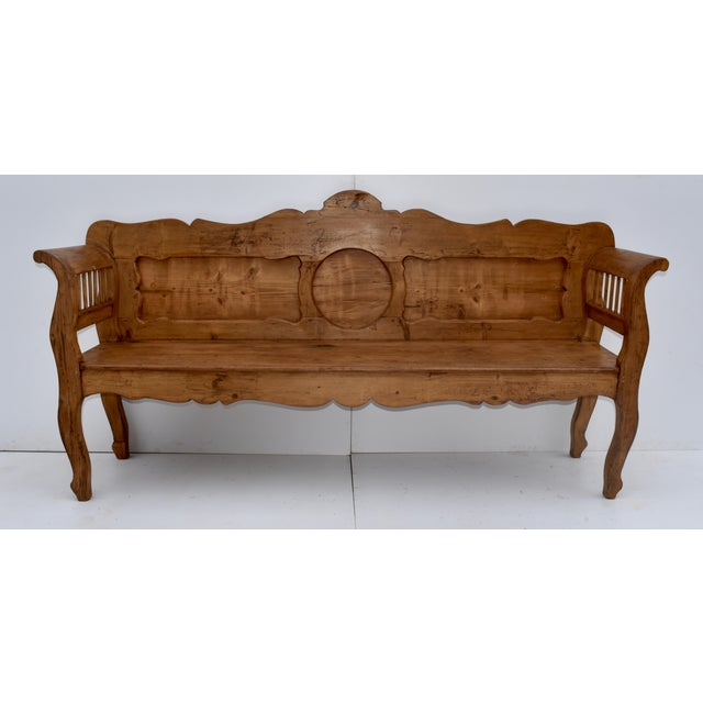 Pine and Oak Bench or Settle For Sale - Image 13 of 13