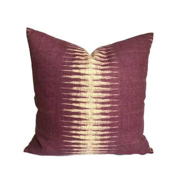 Purple Ikat Pillow Cover For Sale - Image 4 of 4